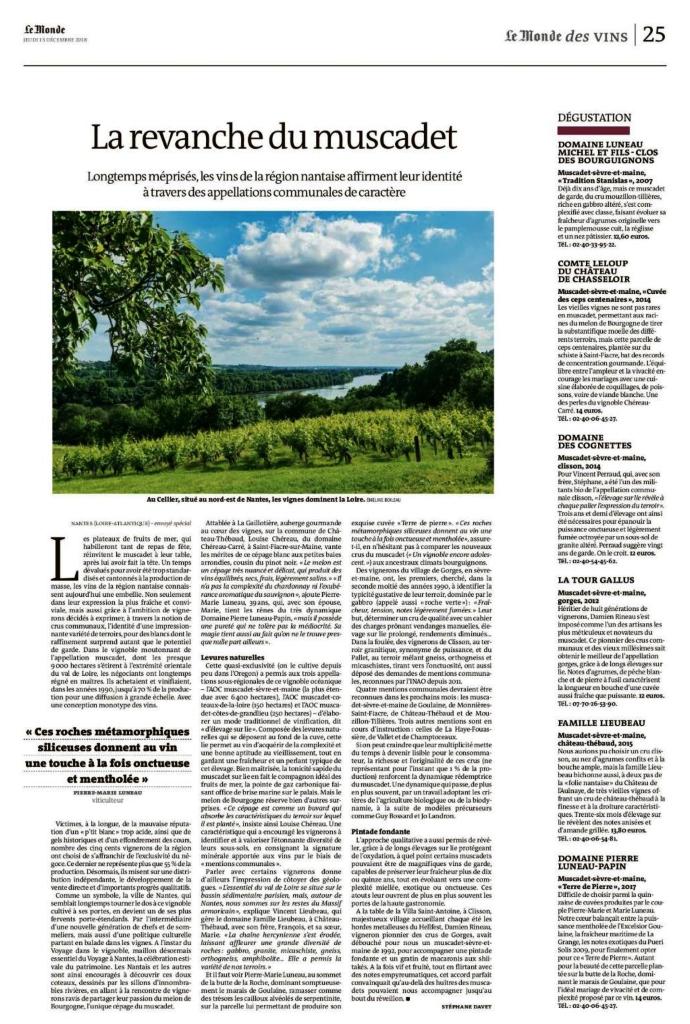Muscadet-Le Monde-Luneau-Papin